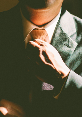 Professional man with tie